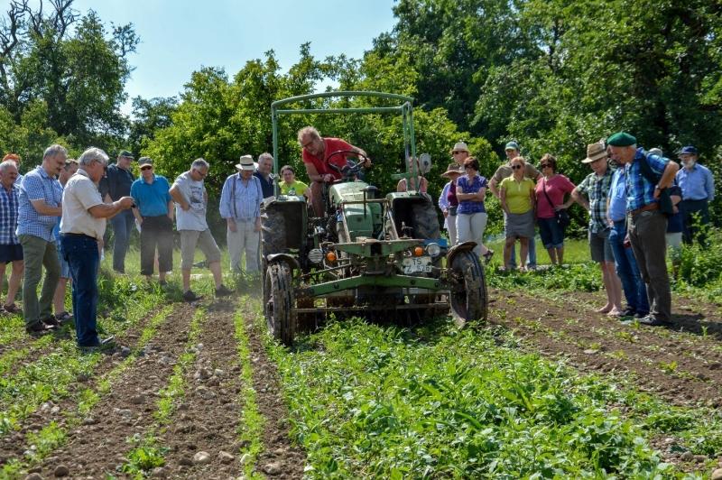 Biobauer und Stadtrat Johann Glück, hier auf seinem Traktor, bewertet die Ökomodellregion positiv – und stieß in der Sitzung auf Gegenwind.