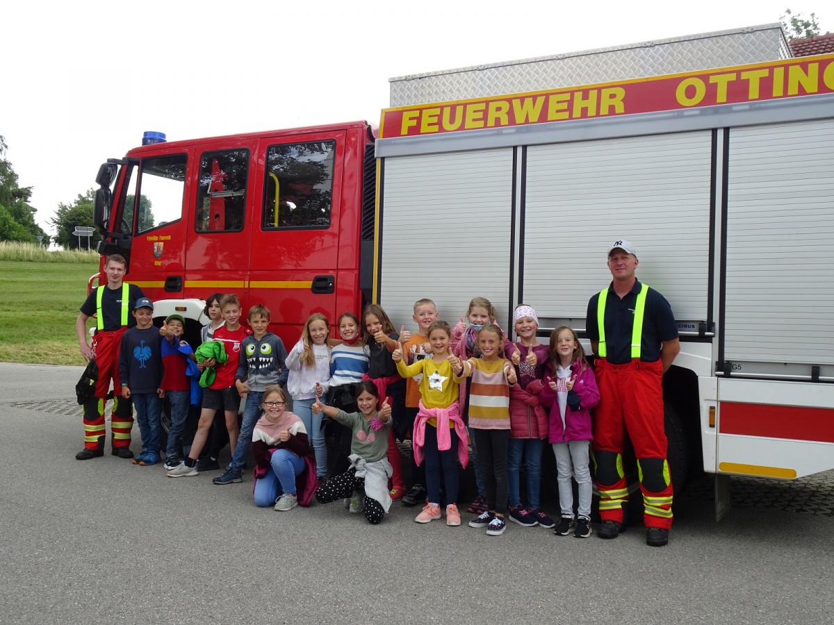 Unterrichtsgang zur Ottinger Feuerwehr