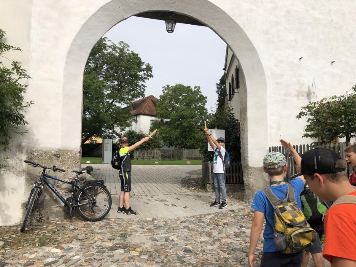 Klassenausflug zur Burg nach Burghausen