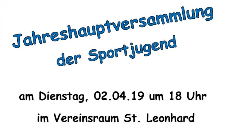 Jahreshauptversammlung der Sportjugend