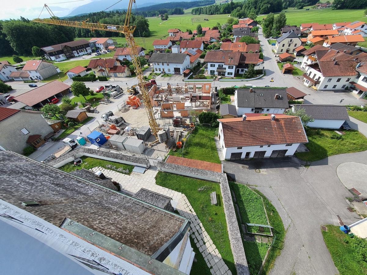 """Baustelle """"Bürgerhaus"""" aus der Vogelperspektive"""