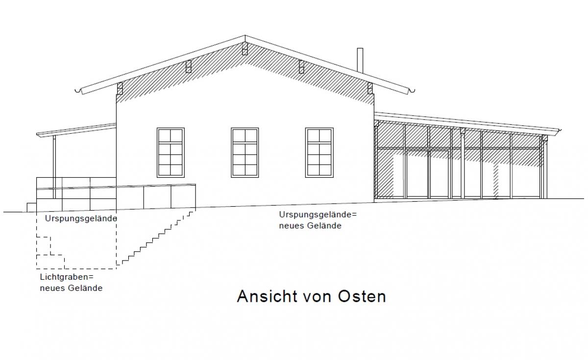 Bürgerhaus - Ansicht von Osten