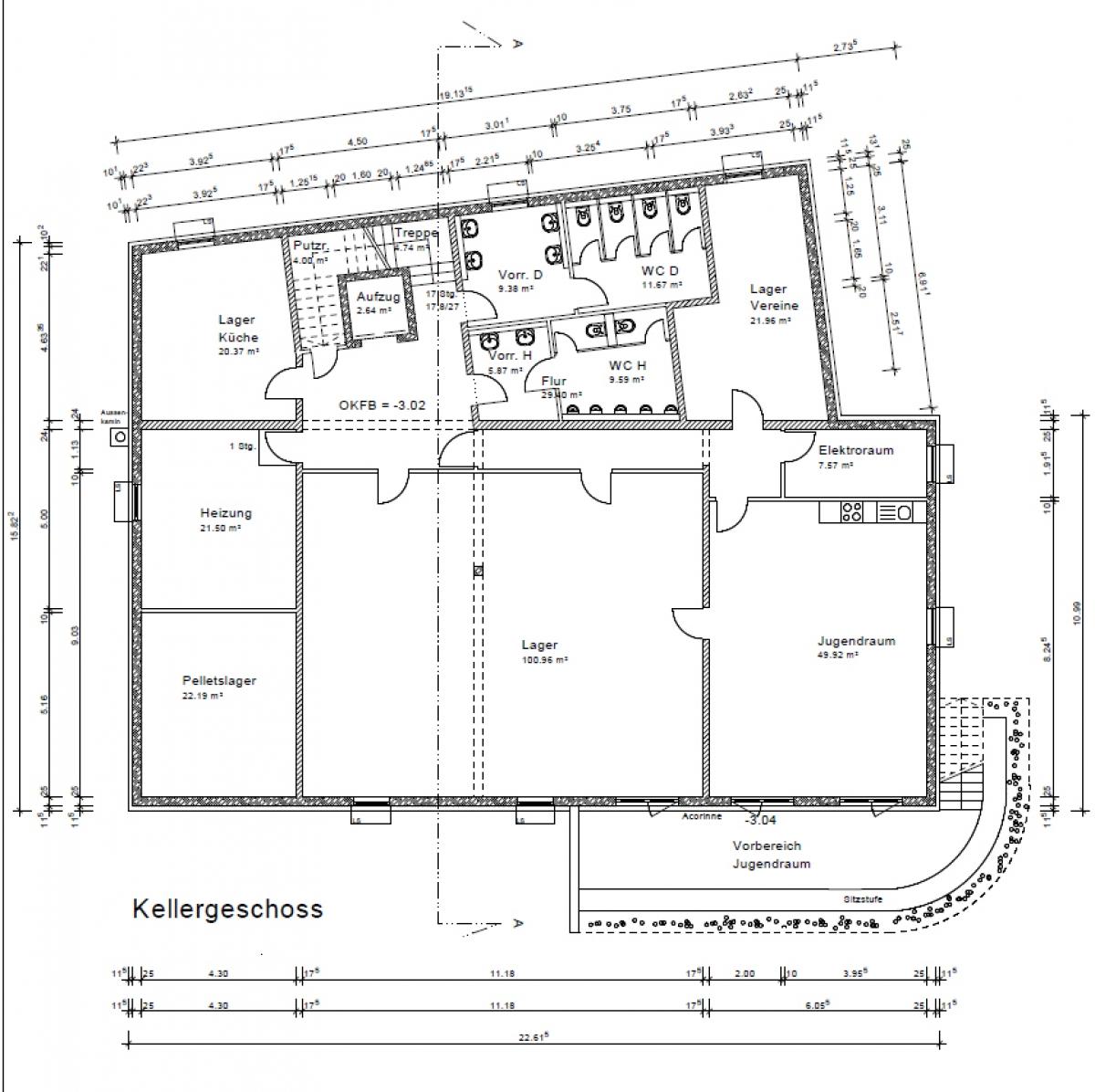 Bürgerhaus - Kellergeschoss
