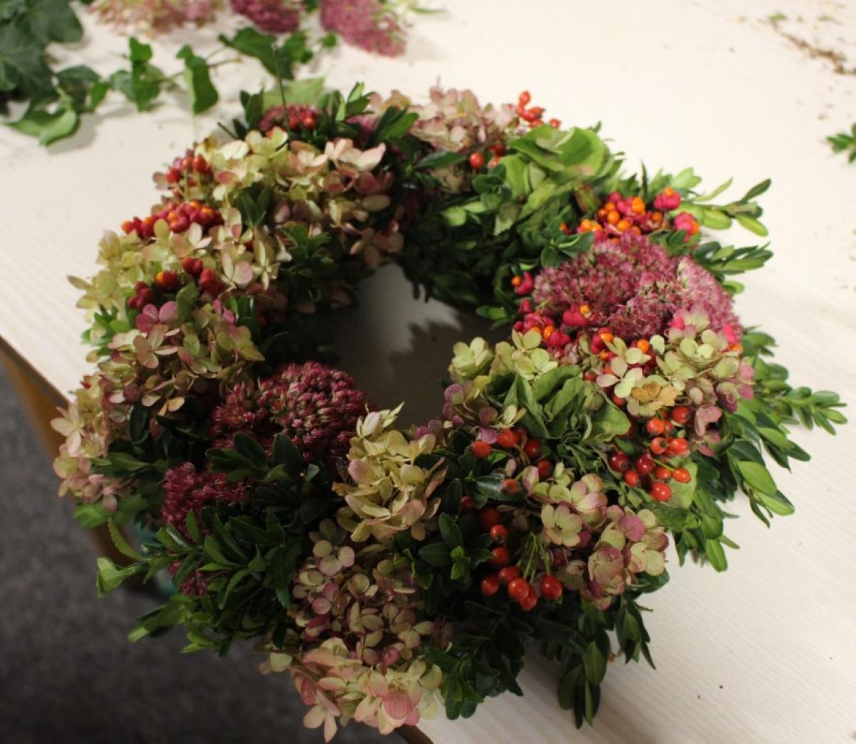 """""""Herbstliche Türkränze"""" vom Gartenbauverein Wonneberg"""