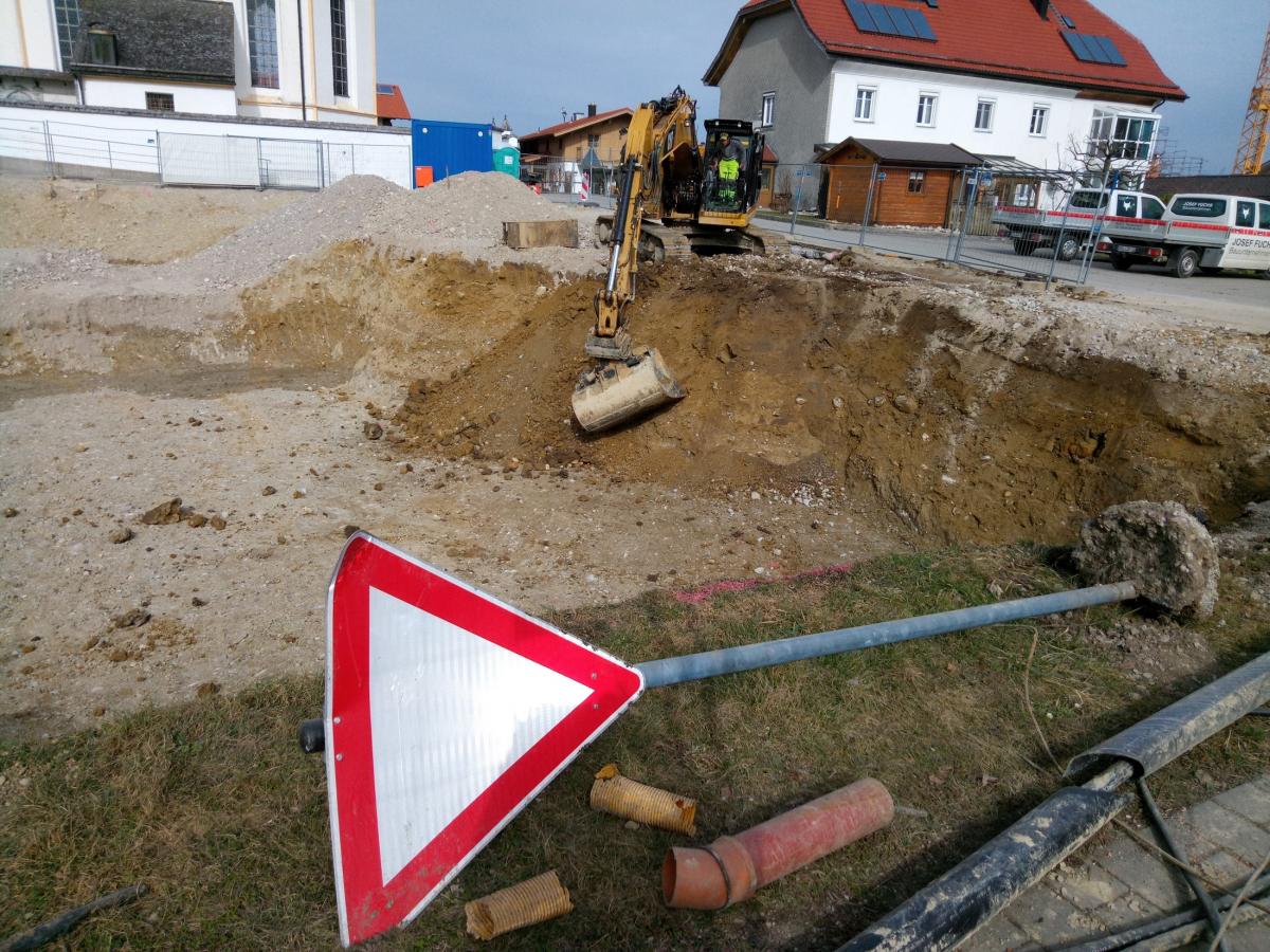 Der Neubau des Bürgerhauses hat begonnen.