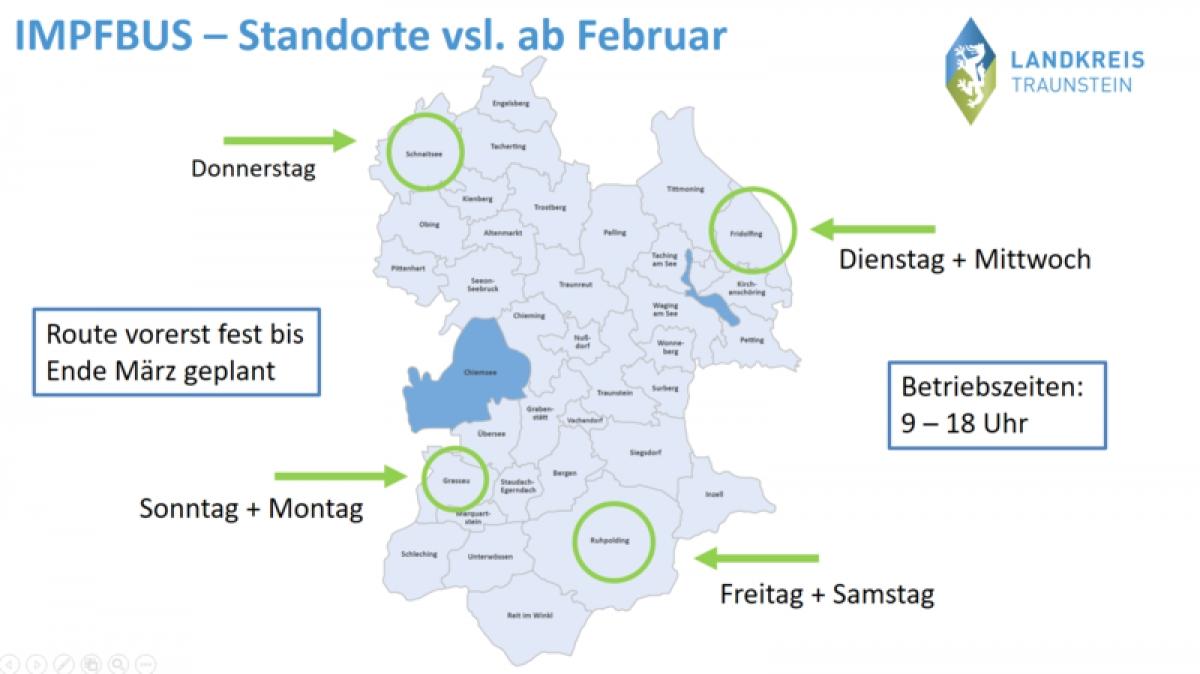 Landkreis Traunstein beschafft Impfbus - Einsatz ab Februar 2021