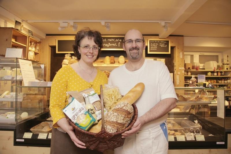 Barbara und Michael Wahlich in ihrer Surheimer Biobäckerei.